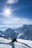 Snowboarding för vintersport royaltyfri bild