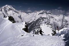 Snowboarding In Alps Stock Photos