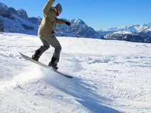 Snowboarding in Italy Royalty Free Stock Photography