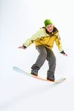 Snowboarding man Royalty Free Stock Image