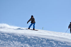 Snowboarding man Royalty Free Stock Photos