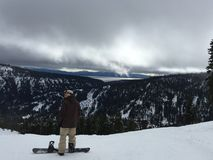 Snowboarding mit den Blicken Stockfotos