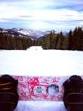 snowboarding immagine stock