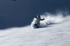 Snowboarding powder in Valle Nevado Royalty Free Stock Images