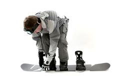 Snowboarding preparation Royalty Free Stock Photography