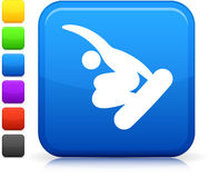 Snowboarding (skateboarding) icon Royalty Free Stock Image