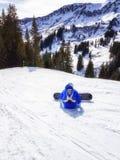 Snowboarding on ski resort Royalty Free Stock Photo