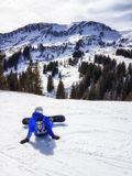 Snowboarding on ski resort Stock Photography