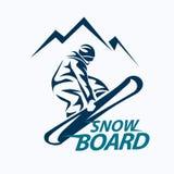 Snowboarding stylized symbol Royalty Free Stock Images