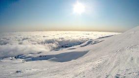 Snowboarding in Turoa, Neuseeland Stockbild
