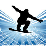 Snowboarding vector Royalty Free Stock Images