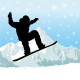 Snowboarding vector Royalty Free Stock Photo