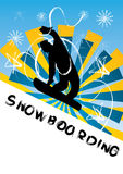 Snowboarding vector illustration Stock Photos
