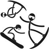 Snowboarding. Vector illustration (EPS 10 Stock Photos