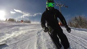 Snowboarding. Very nice footage of people playing snowboard stock video