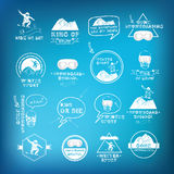 Snowboarding, winter sport icon set. Royalty Free Stock Photography
