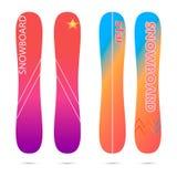Snowboardingbrädelägenhet royaltyfri illustrationer