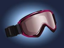 Snowboardingsbeschermende brillen Stock Afbeelding