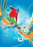 Snowboardist Imagen de archivo libre de regalías