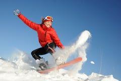 snowboardkvinna Arkivbilder