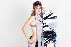 Snowboardmädchen Stockfotografie