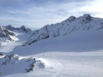 Snowboardmeisje Stock Foto