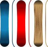 Snowboards royalty free stock photography