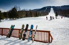 Snowboards - Magic Mountain - Londonderry, VT Stock Photo