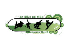 Snowboardsgreen Photographie stock