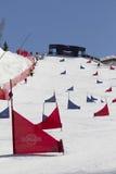 snowboardspår royaltyfri bild