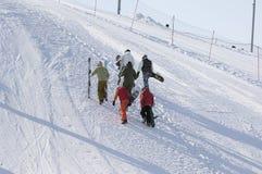 Snowboardtraining Stockbild