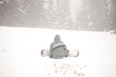 Snowboardturist Arkivbild
