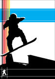 Snowboardvektor Lizenzfreies Stockfoto