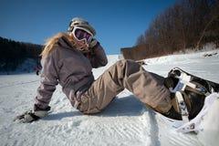 Snowborder Fotografie Stock
