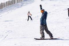 Snowborder in Grandvalira, Andorra royalty-vrije stock fotografie
