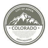 Snowbound скалистые горы - Колорадо, Aspen Стоковая Фотография RF