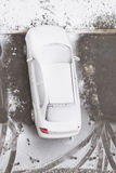 Snowbound car. Royalty Free Stock Photography