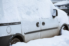 Snowbound car Royalty Free Stock Image