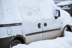 Snowbound car Royalty Free Stock Image