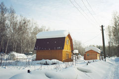 Snowbound country house Royalty Free Stock Photos