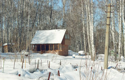 Snowbound country house Stock Photography