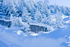 Snowbound landscape Royalty Free Stock Photography