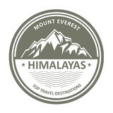 Snowbound mountain Himalayas - Everest stamp Royalty Free Stock Image