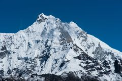Snowbound mountain peaks in Himalayas Stock Images