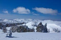 Snowbound mountain plateau Royalty Free Stock Photos