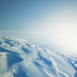 Snowbound mountain slope Stock Photography
