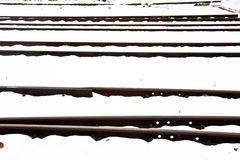 Snowbound rails in winter Royalty Free Stock Photos