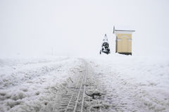Snowbound road Royalty Free Stock Photography