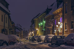 Snowbound street Stock Image