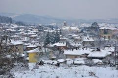Snowbound town Royalty Free Stock Photos
